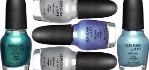 Esmaltes azul cintilante